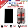 ECRAN LCD + VITRE TACTILE + COMPLETE FRAME POUR HUAWEI MATE 9 BLANC