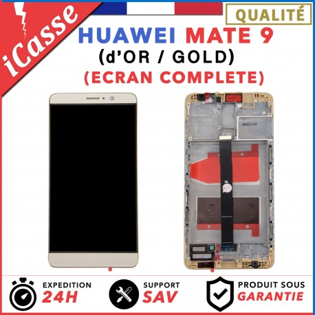 ECRAN LCD + VITRE TACTILE + COMPLETE FRAME POUR HUAWEI MATE 9 OR
