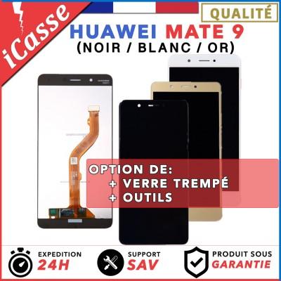 VITRE TACTILE + ECRAN LCD POUR HUAWEI MATE 9 NOIR / BLANC / OR