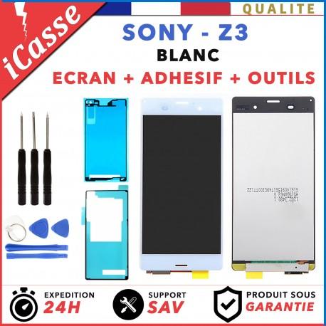 BLOC ÉCRAN LCD DALLE + VITRE TACTILE POUR SONY XPERIA Z3 BLANC + ADHÉSIF +OUTILS