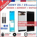 ECRAN LCD SONY XPERIA Z5 / Z5 Mini COMPACT NOIR OU BLANC VITRE TACTILE ADHESIF