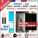 ECRAN LCD + VITRE TACTILE POUR SONY XPERIA XA GRIS BLANC ROSE JAUNE + ADHESIF