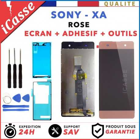 ECRAN LCD + VITRE TACTILE pour SONY XPERIA XA F3111 F3113 ROSE OUTILS + ADHESIF