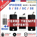 ECRAN LCD IPHONE 5 / 5C / 5S / 5 SE - VITRE TACTILE + LCD SUR CHASSIS AAA GRADE
