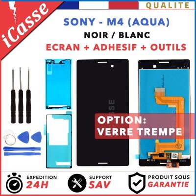 Pour Sony Xperia M4 Aqua E2303 Ecran vitre tactile lcd réparé Noir Ou Blanc