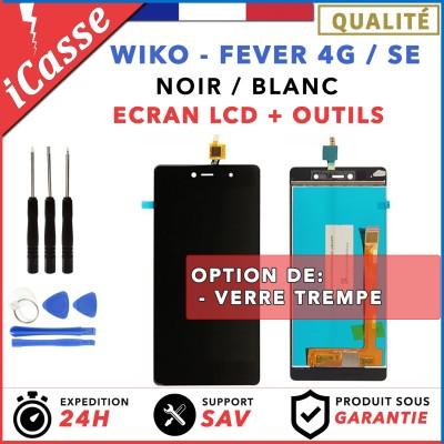 LCD + Ecran tactile Wiko Fever 4G / Fever SE - Blanc Noir / Outils / Protection
