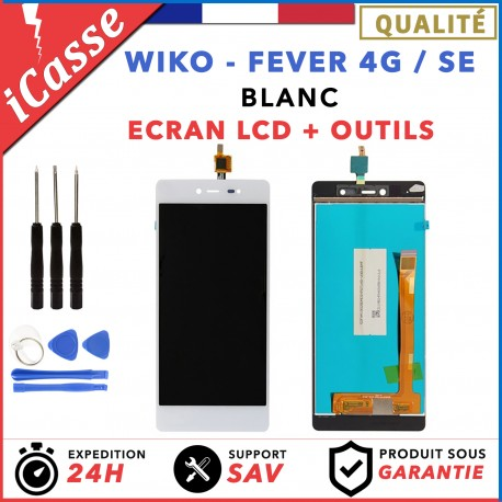 LCD + Ecran tactile Wiko Fever 4G / Fever SE - Blanc / Outils