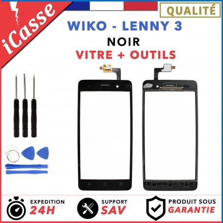 Vitre / Ecran tactile Wiko Lenny 3 Noir + Outils