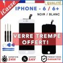 ECRAN POUR IPHONE 6 / 6 PLUS - NOIR OU BLANC LCD VITRE TACTILE SUR CHASSIS