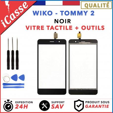 Vitre / Ecran tactile Wiko Tommy 2 Noir + Outils