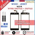 Vitre Ecran tactile Wiko Jerry Noir + Outils / Protection