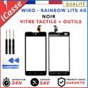 Vitre/Ecran tactile Wiko Rainbow Lite 4G Noir + Outils