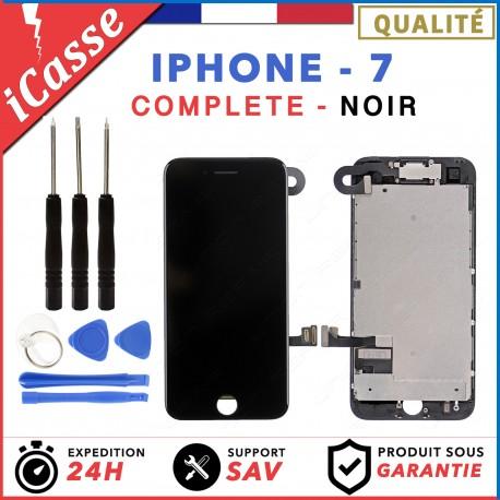 ECRAN COMPLET IPHONE 7 NOIR VITRE TACTILE + LCD RETINA SUR CHASSIS + OUTILS