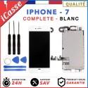 ECRAN COMPLET IPHONE 7 BLANC VITRE TACTILE + LCD RETINA SUR CHASSIS + OUTILS