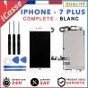 ECRAN COMPLET IPHONE 7 PLUS BLANC VITRE TACTILE + LCD RETINA SUR CHASSIS +OUTILS