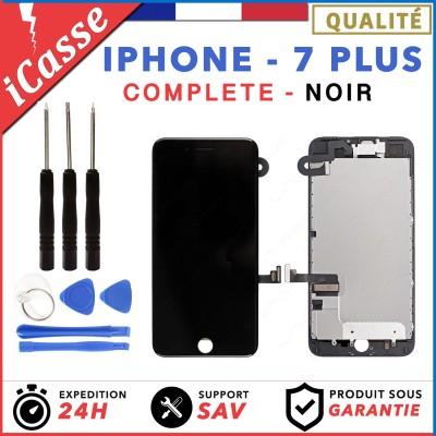ECRAN COMPLET IPHONE 7 PLUS NOIR VITRE TACTILE + LCD RETINA SUR CHASSIS +OUTILS