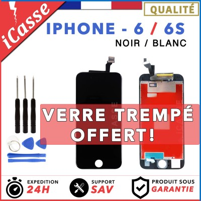 LCD SCREEN FOR IPHONE 6 AND 6S BLACK OR WHITE PLUS TOOLS