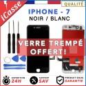 ECRAN LCD POUR IPHONE 7 NOIR ou BLANC + VITRE TACTILE / OUTILS