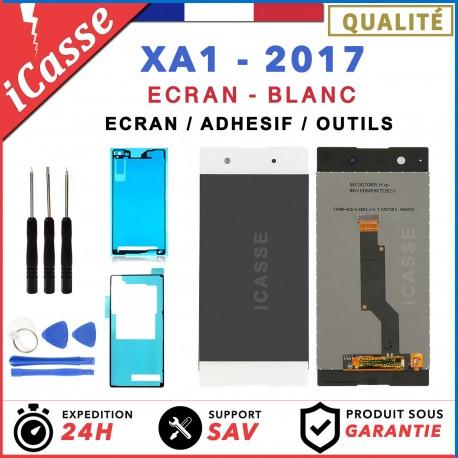 ECRAN LCD + VITRE TACTILE SONY XPERIA XA1 BLANC G3121 G3116 + OUTILS + ADHESIF