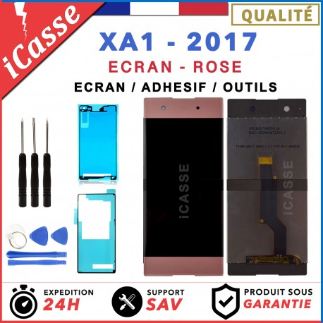 ECRAN LCD + VITRE TACTILE SONY XPERIA XA1 ROSE G3121 G3116 + OUTILS + ADHESIF