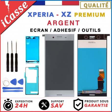 D'origine Ecran LCD POUR Sony Xperia XZ Premium ARGENT G8141 G8142 + ADHESIF