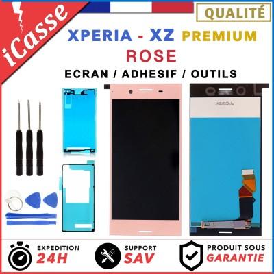 D'origine Ecran LCD POUR Sony Xperia XZ Premium ROSE G8141 G8142 + ADHESIF