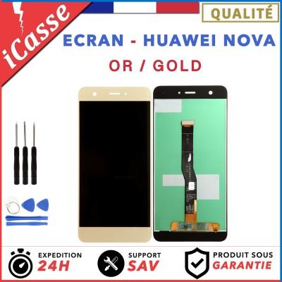 VITRE TACTILE + ECRAN LCD ORIGINAL POUR HUAWEI NOVA OR / GOLD CAN-L01 + OUTILS