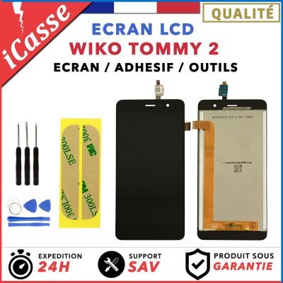 LCD + Ecran tactile assemblés Wiko Tommy 2 Noir / Outils / Protection