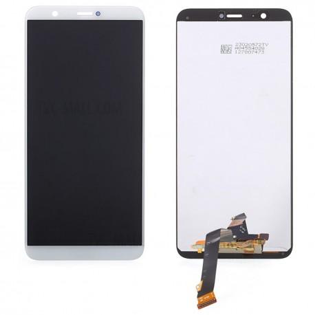 """Ecran complet pour Huawei P Smart PSmart 5.65"""" vitre tactile + LCD blanc noir"""
