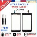 Vitre / Ecran tactile Wiko Harry Noir + Outils