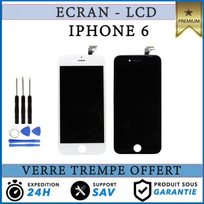 IPHONE 6 LCD SCREEN COMPLETE - BLACK / WHITE