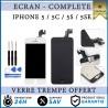 VITRE TACTILE + ECRAN LCD COMPLET IPHONE 5/ 5C / 5S 5 SE NOIR/BLANC + OUTILS