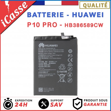 Batterie interne pour HUAWEI P10 Plus Modele HB386589CW - 3650 mAh AAA