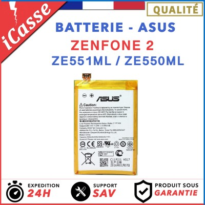 BATTERIE INTERNE ASUS ZENFONE 2 Z00AD ZE551ML ZE550ML Z008D C11P1424 2900 mAh