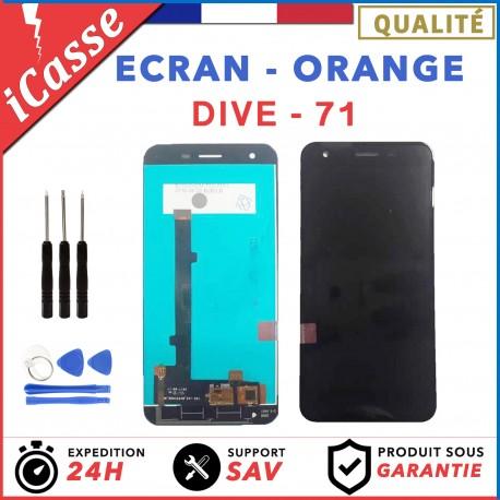 Ecran complet pour Orange Dive 71 NOIR vitre tactile + Ecran LCD + OUTILS