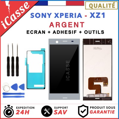 D'origine Ecran LCD Sony Xperia XZ1 G8341, G8342, G8343 ARGENT ADHESIVE +OUTILS