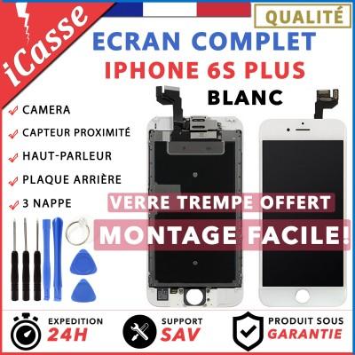 VITRE TACTILE + ECRAN LCD COMPLET IPHONE 6S PLUS BLANC + OUTILS