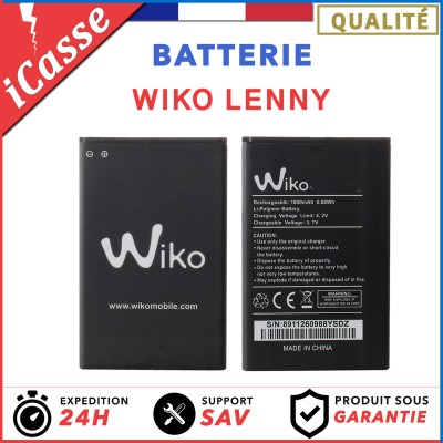 Batterie Wiko Lenny 3702 2000 mAh 0 Cycle AAA