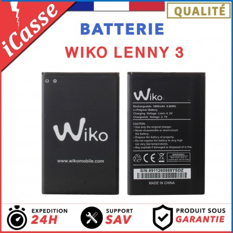 Batterie Wiko Lenny 3 3702 2000 mAh 0 Cycle AAA