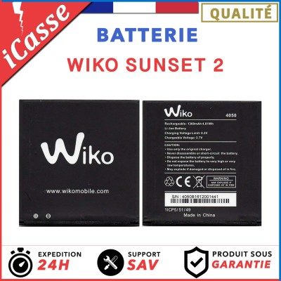 Batterie pour Wiko Sunset 2- 1300mAh 0 Cycle AAA