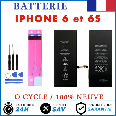 Batterie Avec Adhesive iPhone 6 / 6S Interne Neuve 0 Cycle