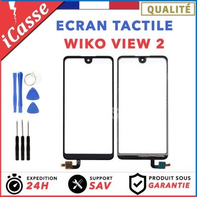 Vitre / Ecran tactile Wiko VIEW 2 Noir + Outils