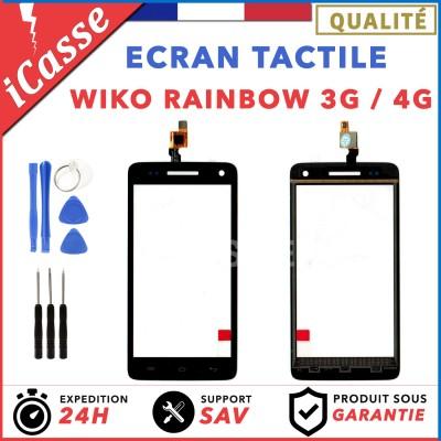 Ecran Tactile Wiko Rainbow 3G / 4G Noir + Outils