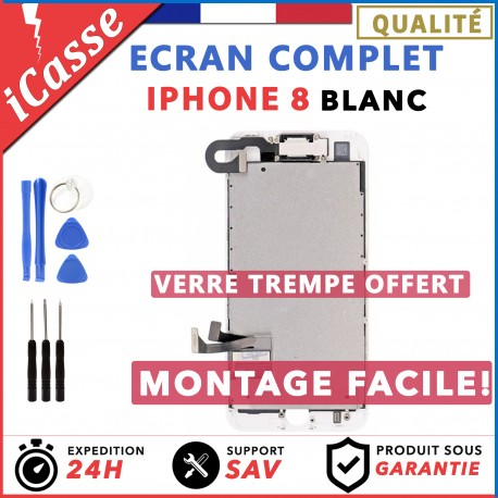 Ecran complet iPhone 8 Blanc + Outils