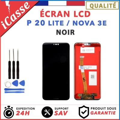 ECRAN LCD + VITRE TACTILE POUR HUAWEI P20 LITE / NOVA 3E - NOIR