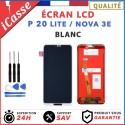 ECRAN LCD + VITRE TACTILE POUR HUAWEI P20 LITE / NOVA 3E - BLANC