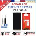 ECRAN LCD + VITRE TACTILE POUR HUAWEI P20 LITE / NOVA 3E - OR