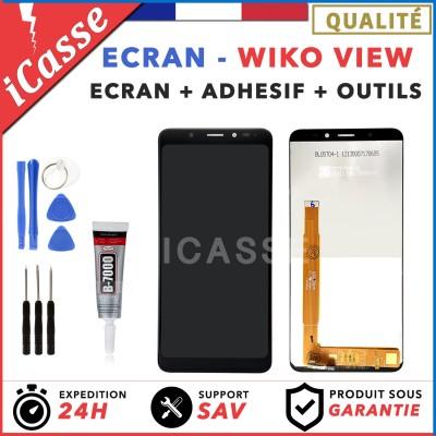ECRAN COMPLET VITRE TACTILE + LCD WIKO VIEW NOIR + OUTILS