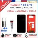 ECRAN LCD HUAWEI P20 LITE ANE-LX1 NOIR / BLANC / OR + OUTILS + COLLE