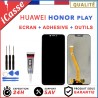 ECRAN LCD + VITRE TACTILE HUAWEI HONOR PLAY NOIR + ADHESIVE COLLE + OUTILS